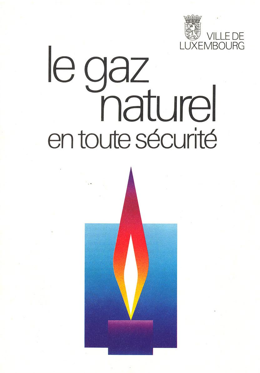 brochure pour la ville de Luxembourg Le Gaz en toute sécurité 1998 Lex & Pit Weyer