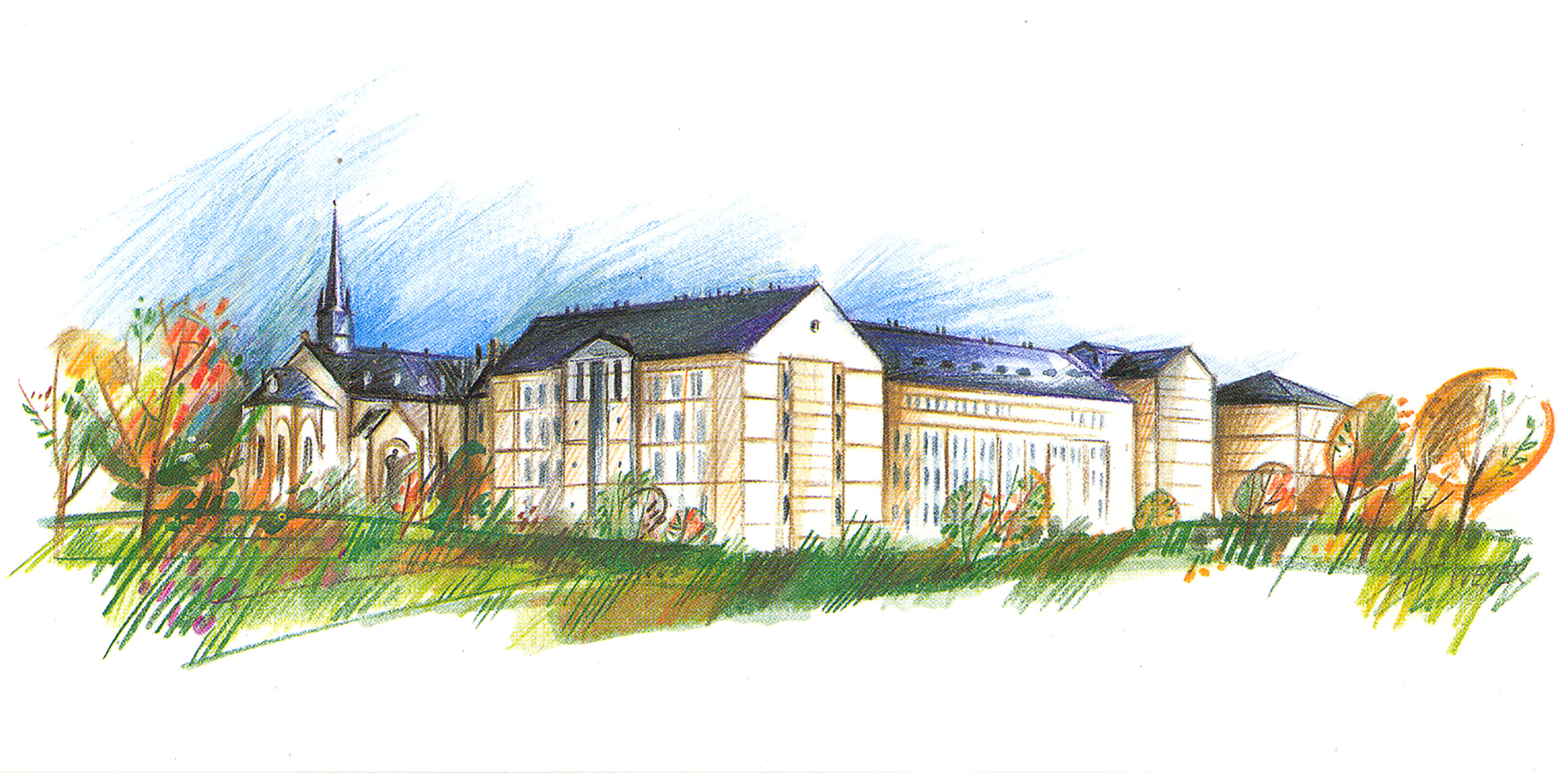 Illustration pour Centre universitaire de Luxembourg 1998 Pit Weyer
