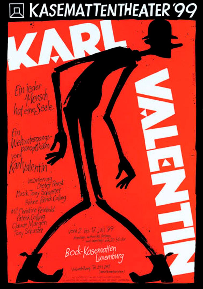 Affiche Plakat Kasemattentheater 1999 Karl Valentin