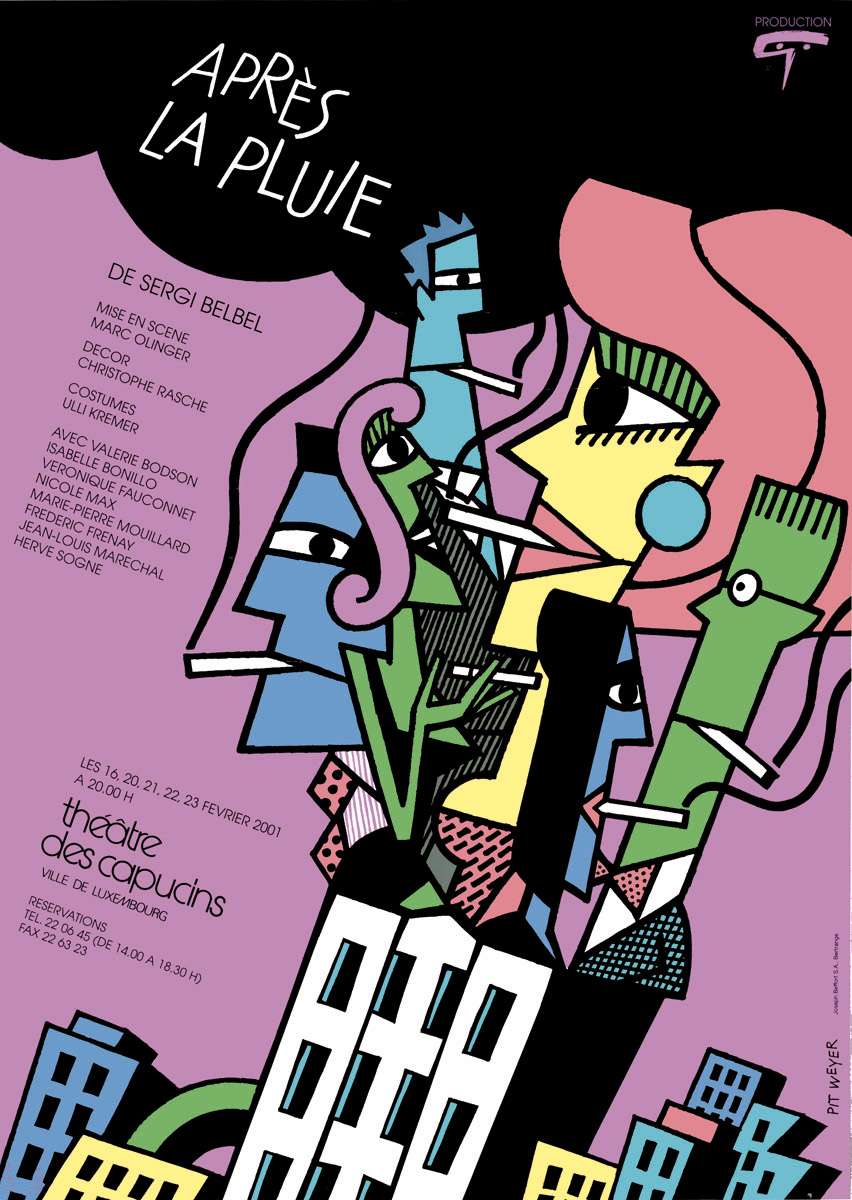 Affiche 2001 Apres la pluie de Sergi Belbel Pit Weyer