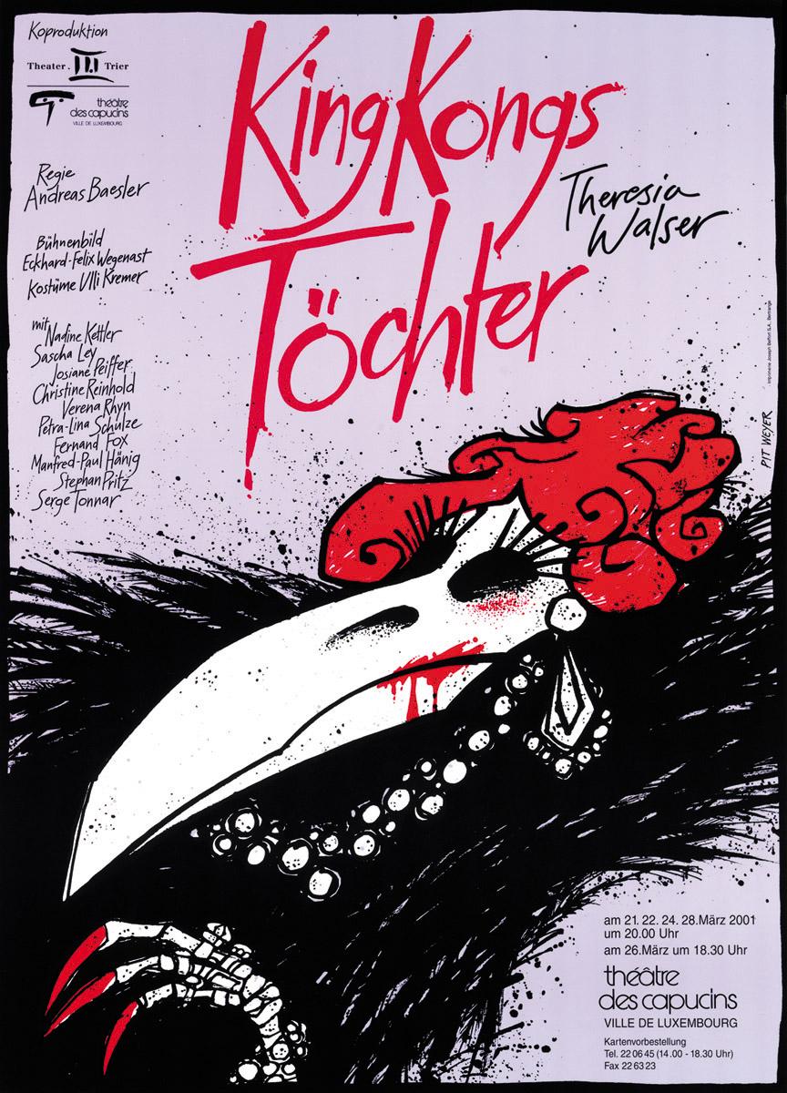 Affiche Plakat Der graue Engel von Moritz Rinke Théâtre des Capucins 20001 Pit Weyer