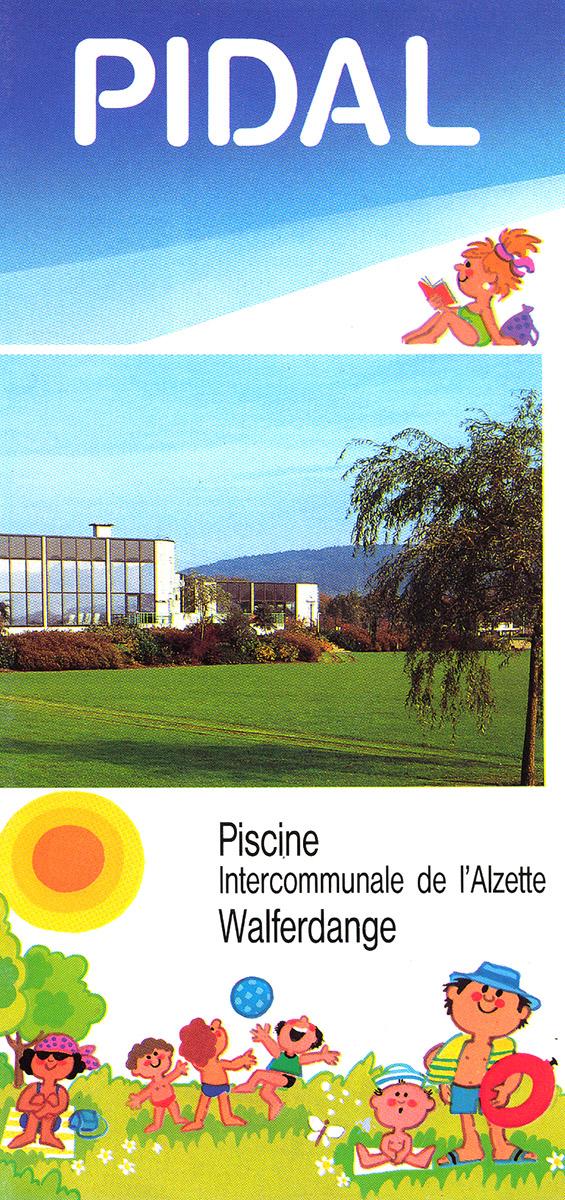 2000 dépliant PIDAL piscine Walferdange Pit Weyer