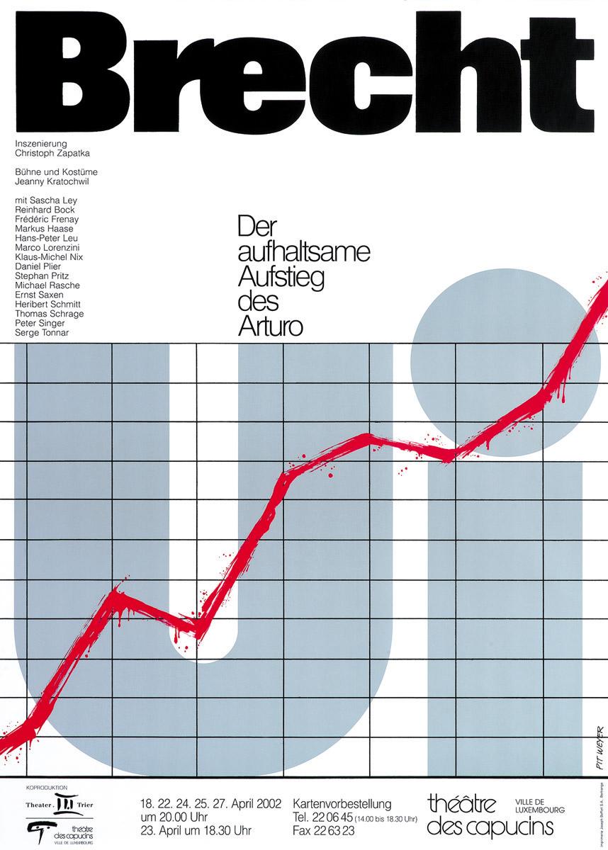 Plakat 2002 Arturo Ui von Brecht Pit Weyer