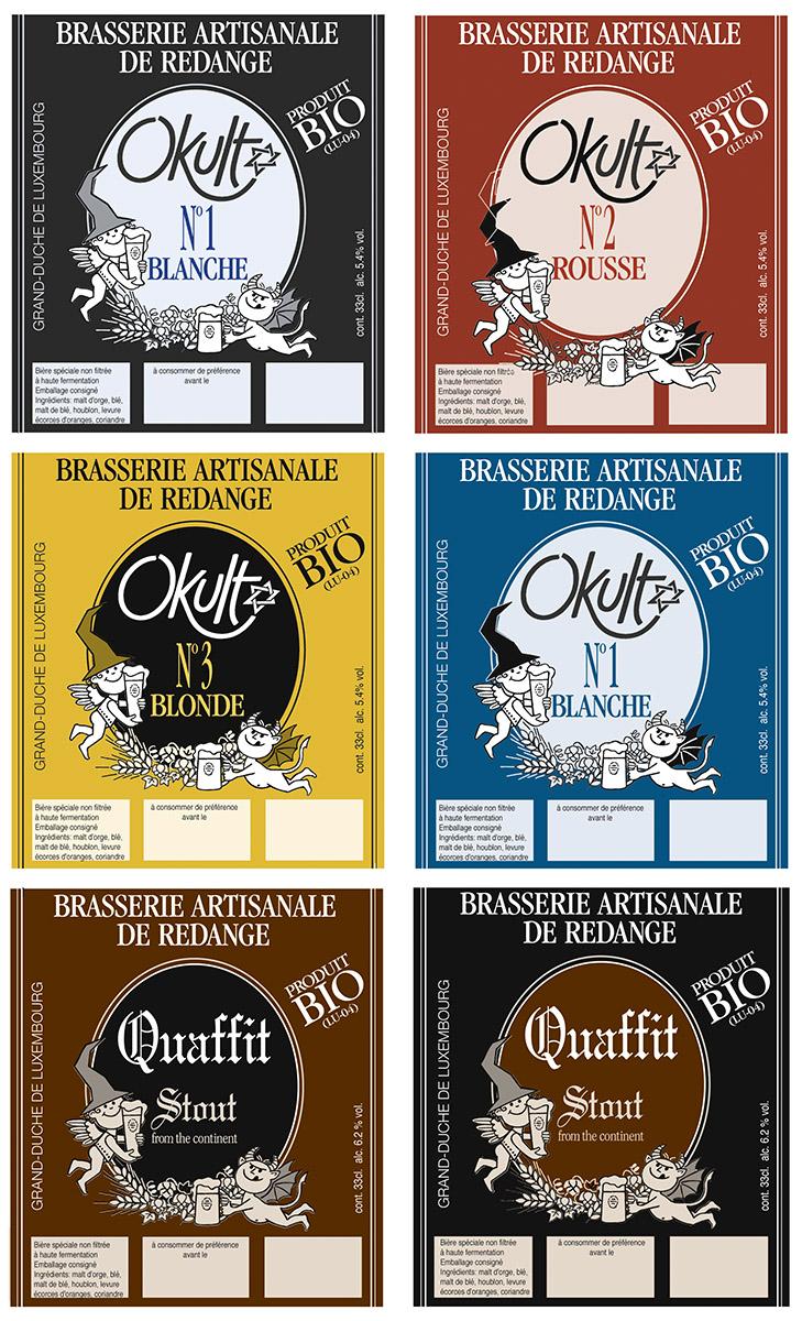 Etiquettes OKULT 2001 Lex & Pit Weyer