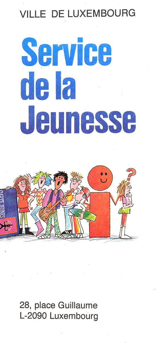 dépliant Service de la Jeunesse Ville de Luxembourg Pit Weyer