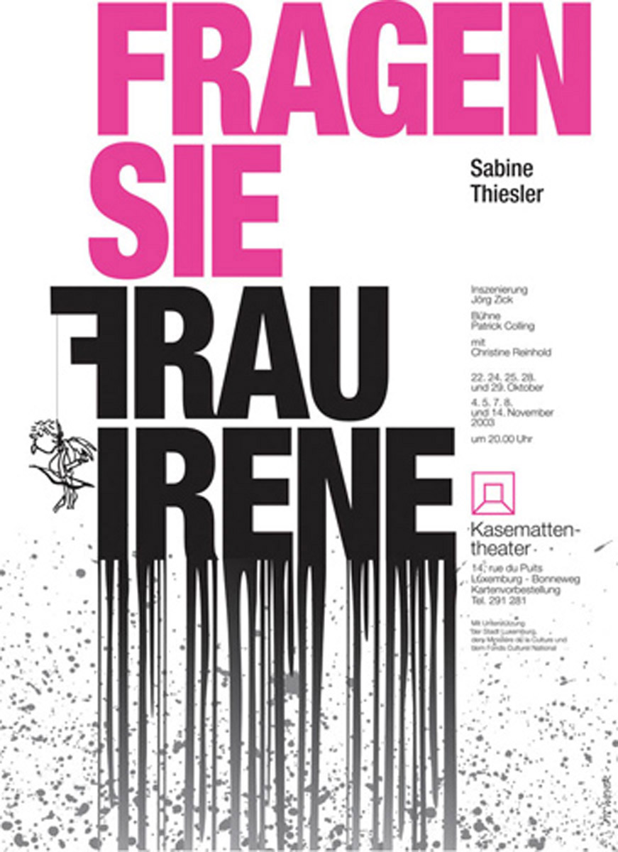 Affiche Kasemattentheater 2003 Plakat Pit Weyer