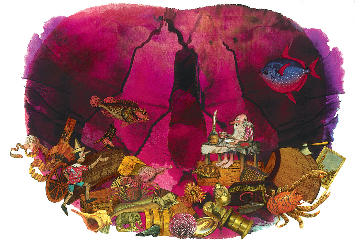 2003 Livre Pinocchio Illustratiounen Anne a Pit Weyer