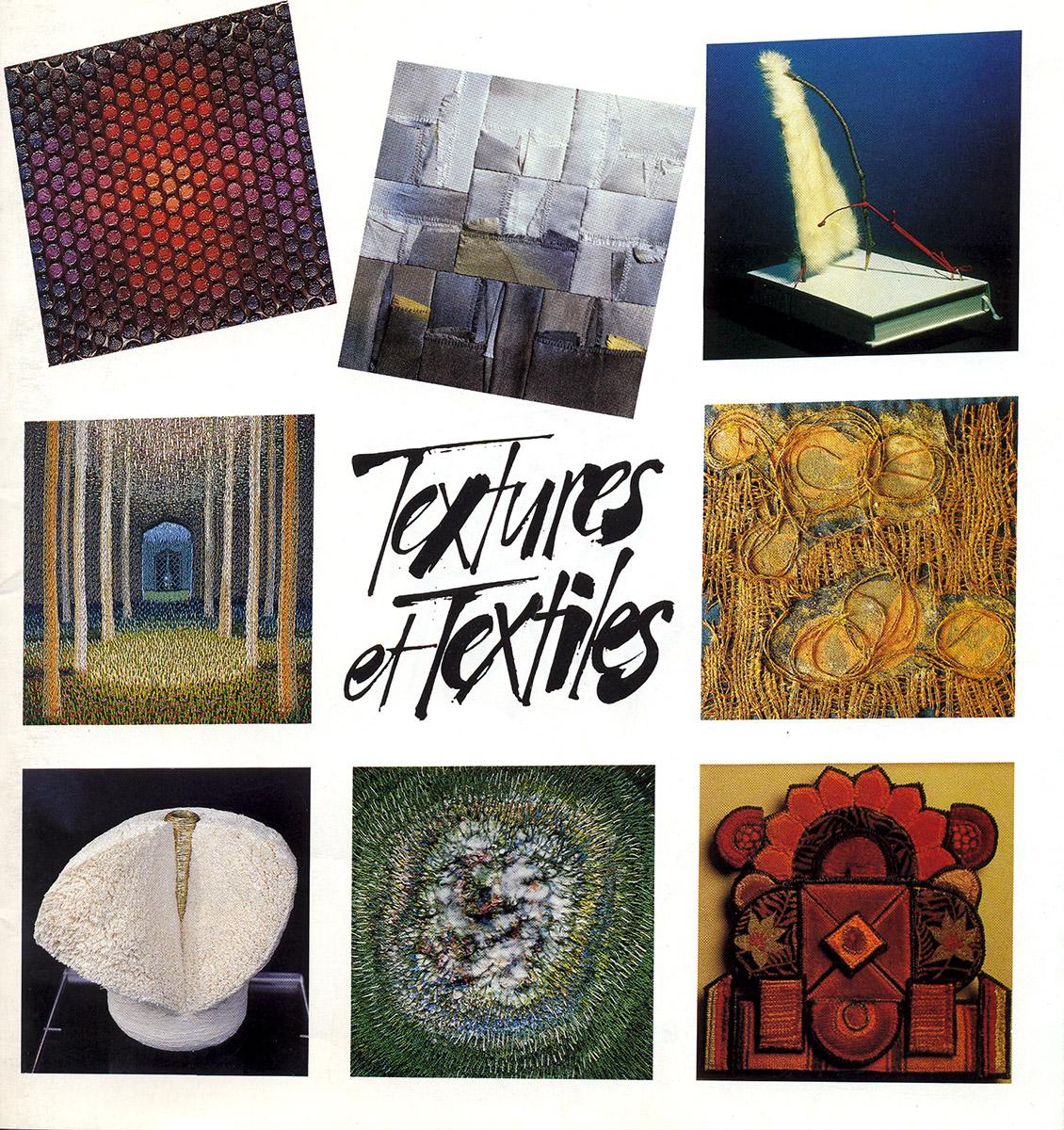Brochure Textures et Textiles Exposition 2003 Lex & Pit weyer