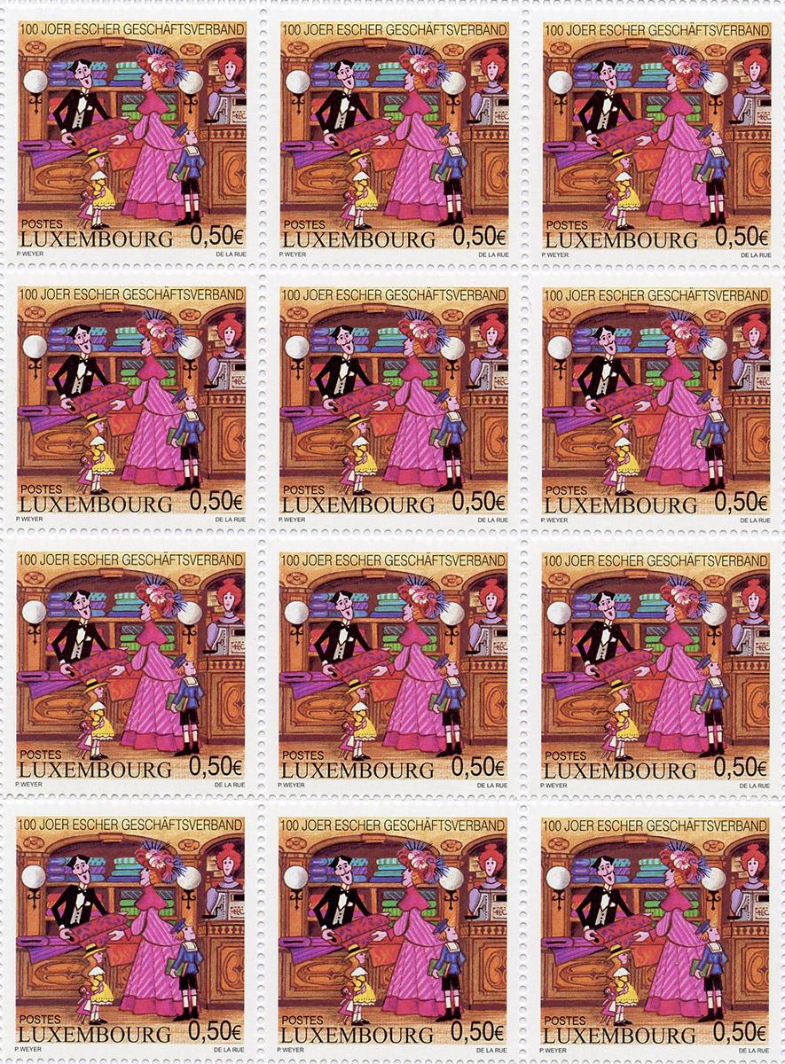 Timbre poste Luxembourg 2004 - 100 Joer Escher Geschäftsverband Pit Weyer