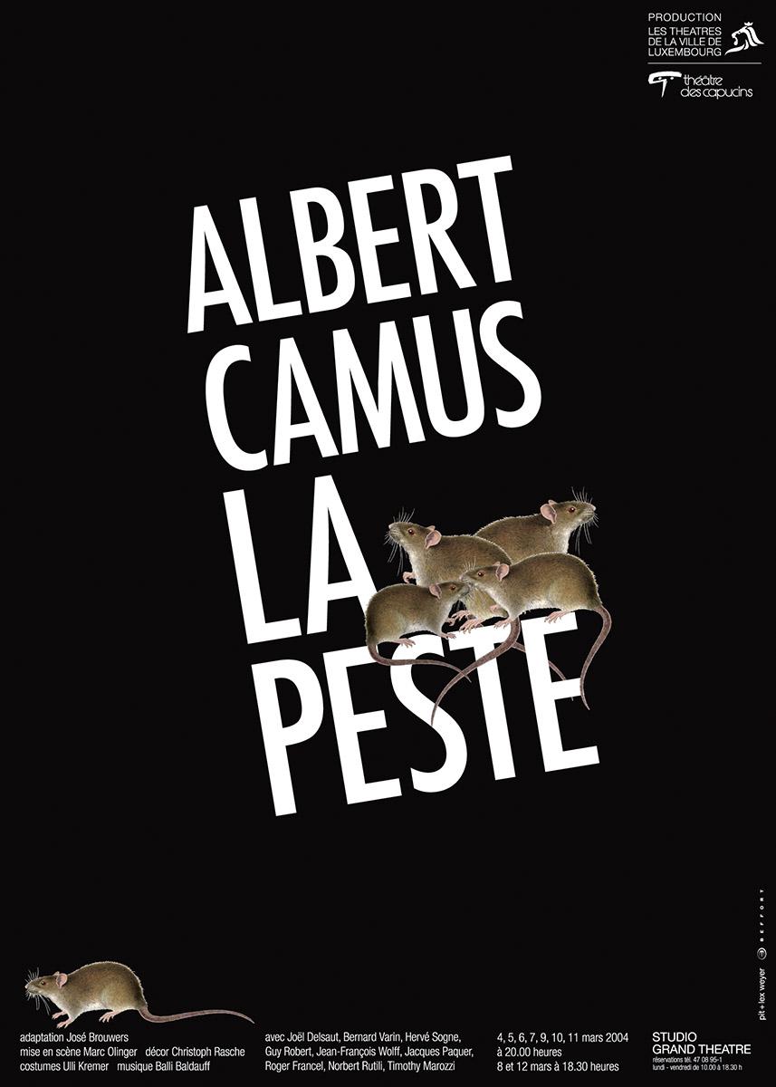 Affiche Plakat Théâtre des Capucins 2004 La Peste de Albert Camus Plakat Lex & Pit Weyer