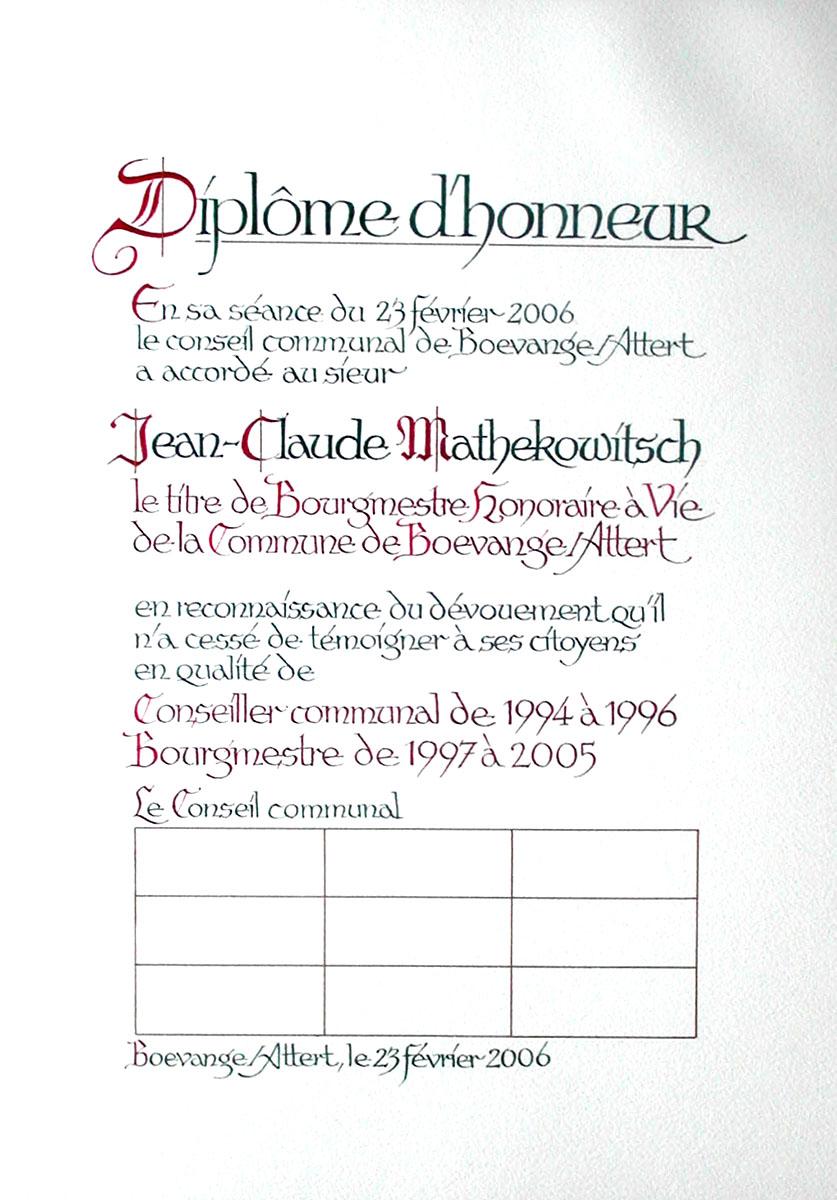 Calligraphie Pit Weyer