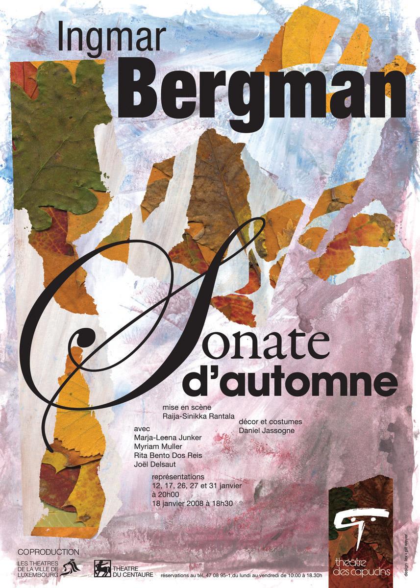 Affiche 2007-08 Sonate d'Automne de Ingmar Bergman Lex & Pit Weyer
