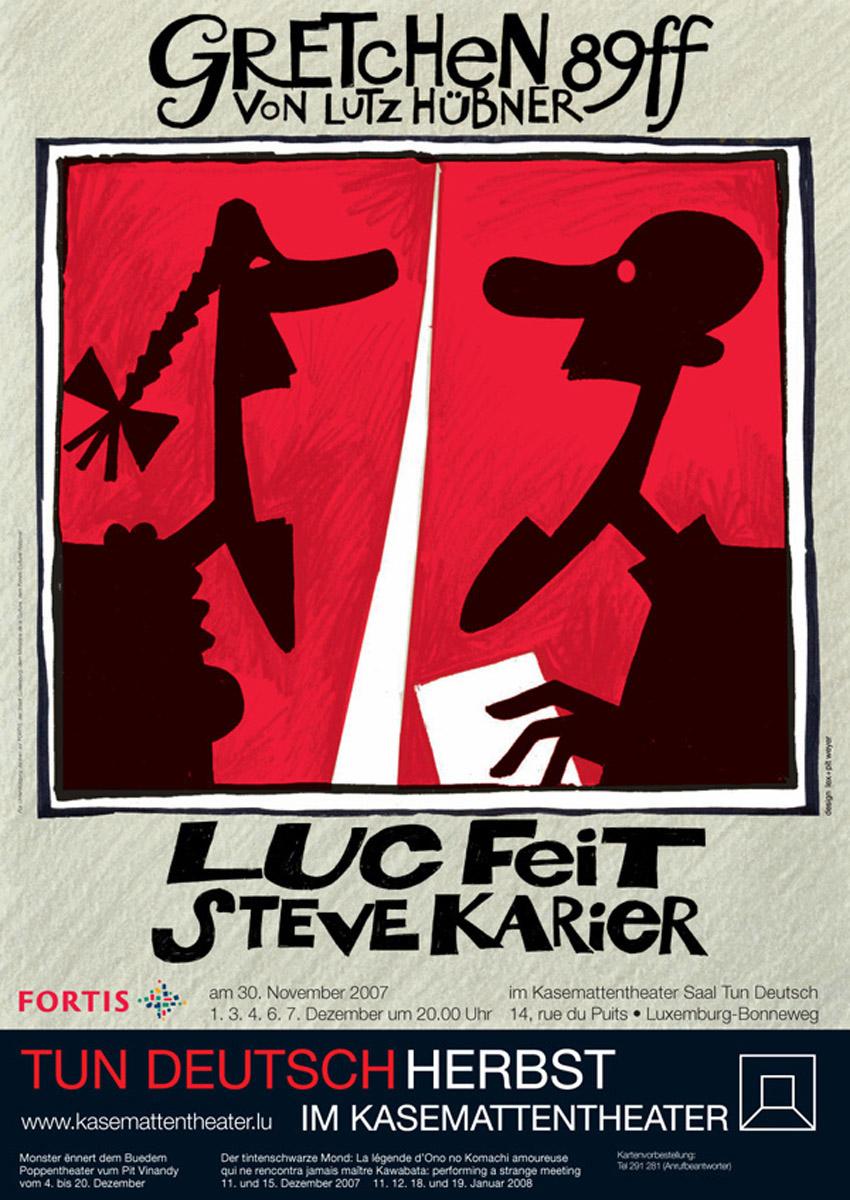 Affiche Théâtre des casemates Kasemattentheater 2007 Gretchen - Pit Weyer