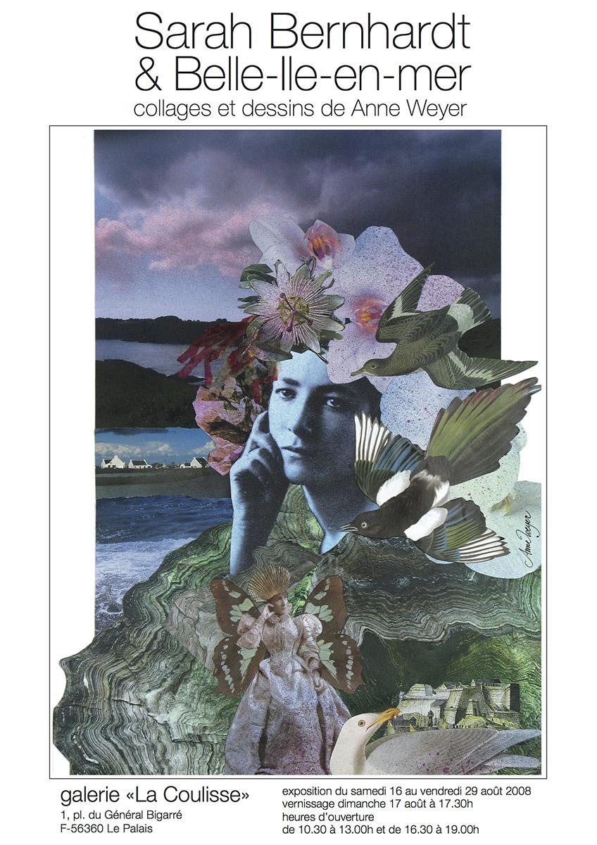 2008 Affiche Expo Anne Weyer sur Sarah Bernardt
