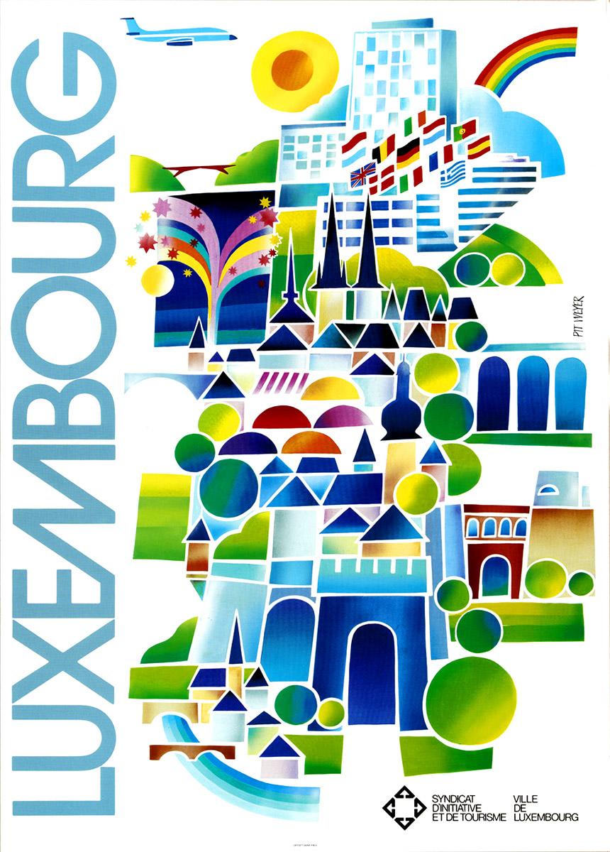 Affiche pour le Syndicat d'Initiative Ville de Luxembourg 1987 Pit weyer