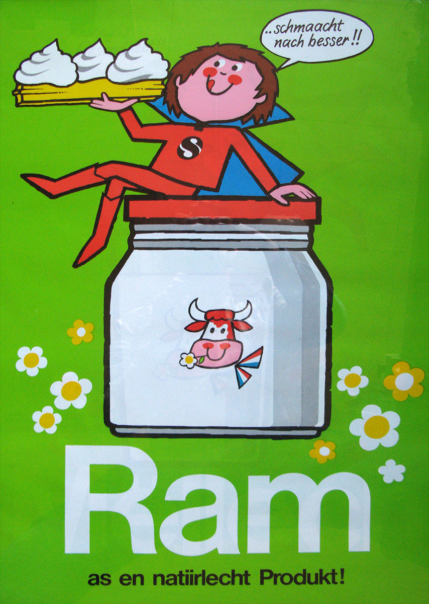 Affiche Ram Luxlait 1984 Lex & Pit Weyer