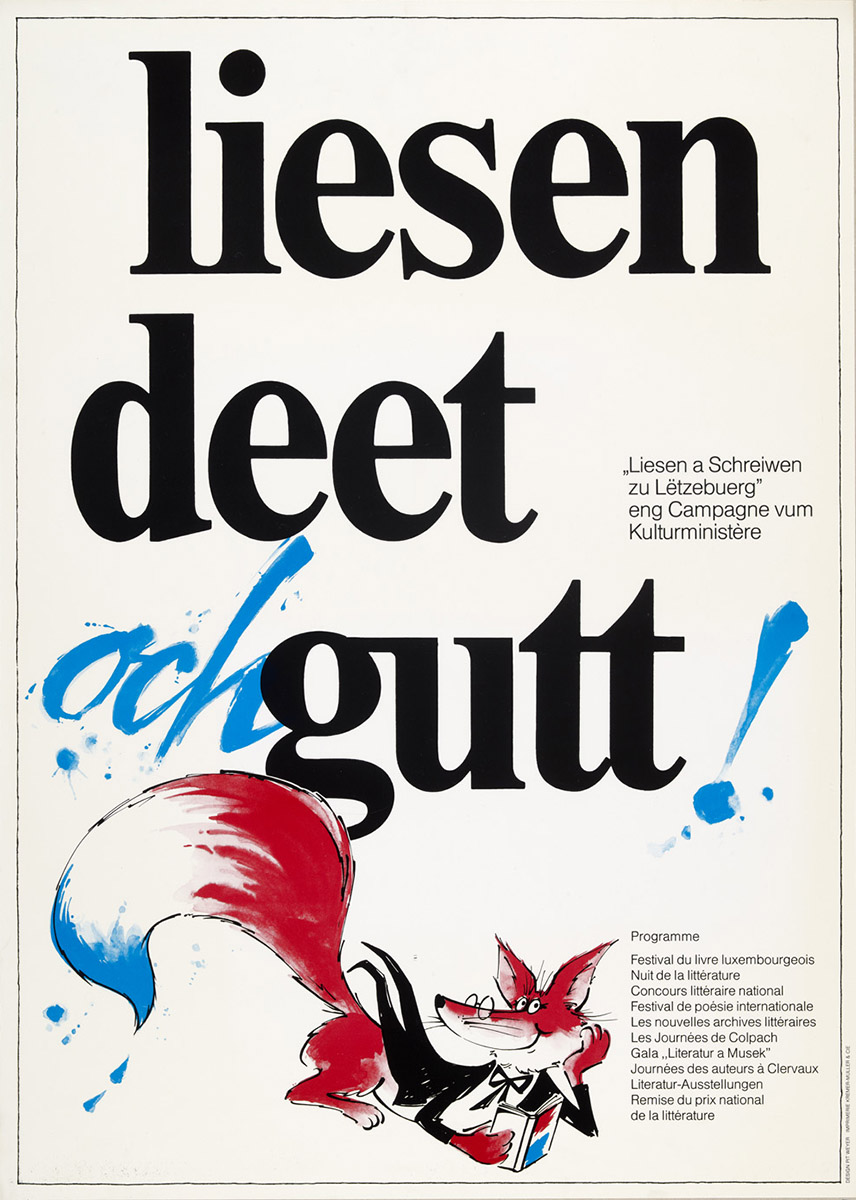 Affiche Liesen deet gutt Pit Weyer