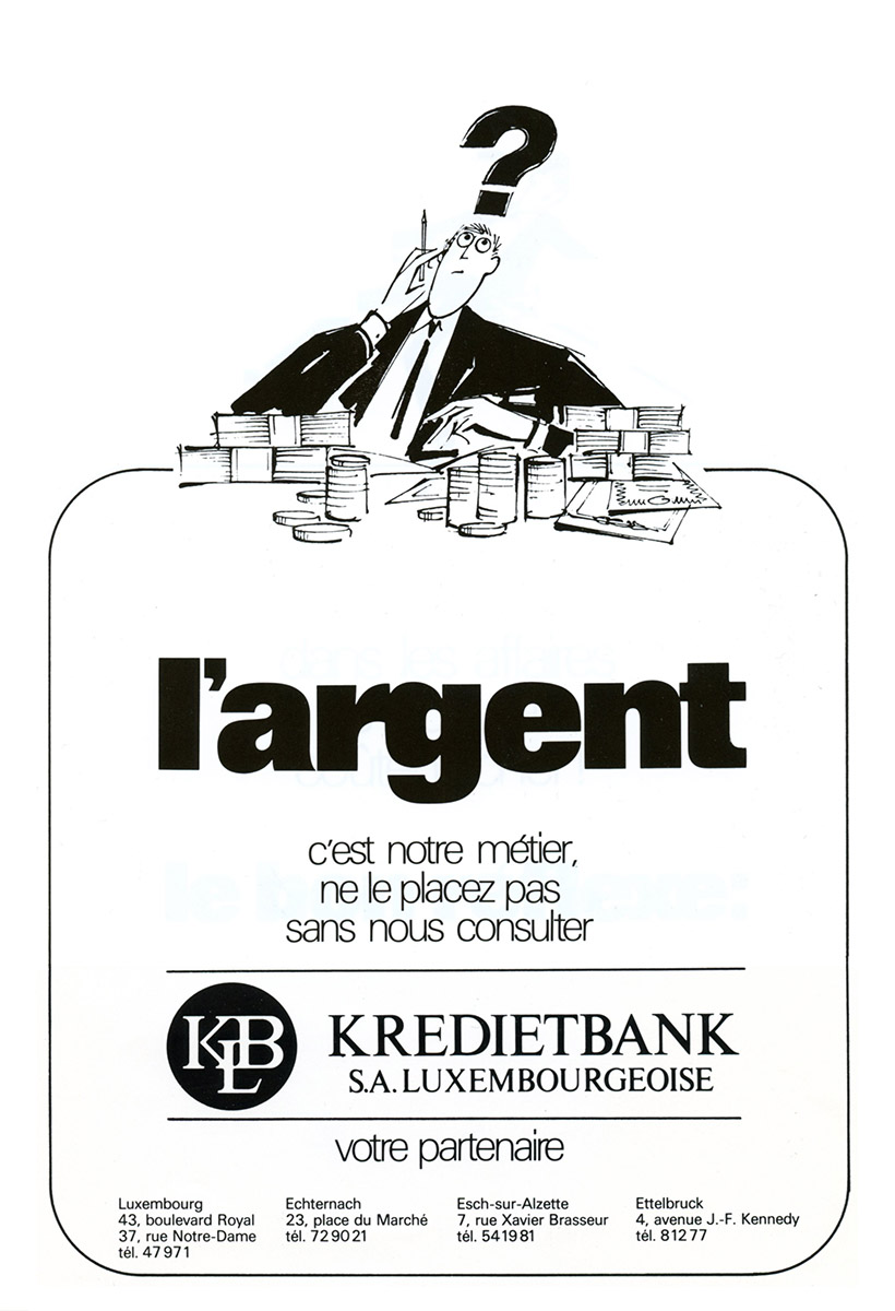 Annonce Kredietbank 1988 Lex & Pit Weyer