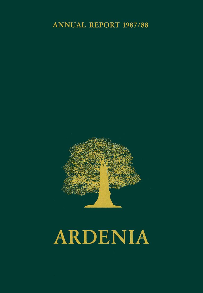 Rapport annuel Ardenia 1987-1988 Lex & Pit Weyer
