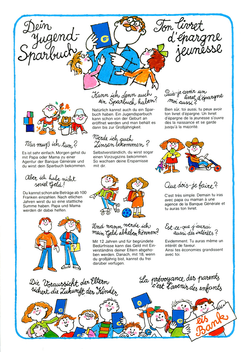 Dépliant Mir Spueren 01 BGL Luxembourg Illustrations Pit Weyer
