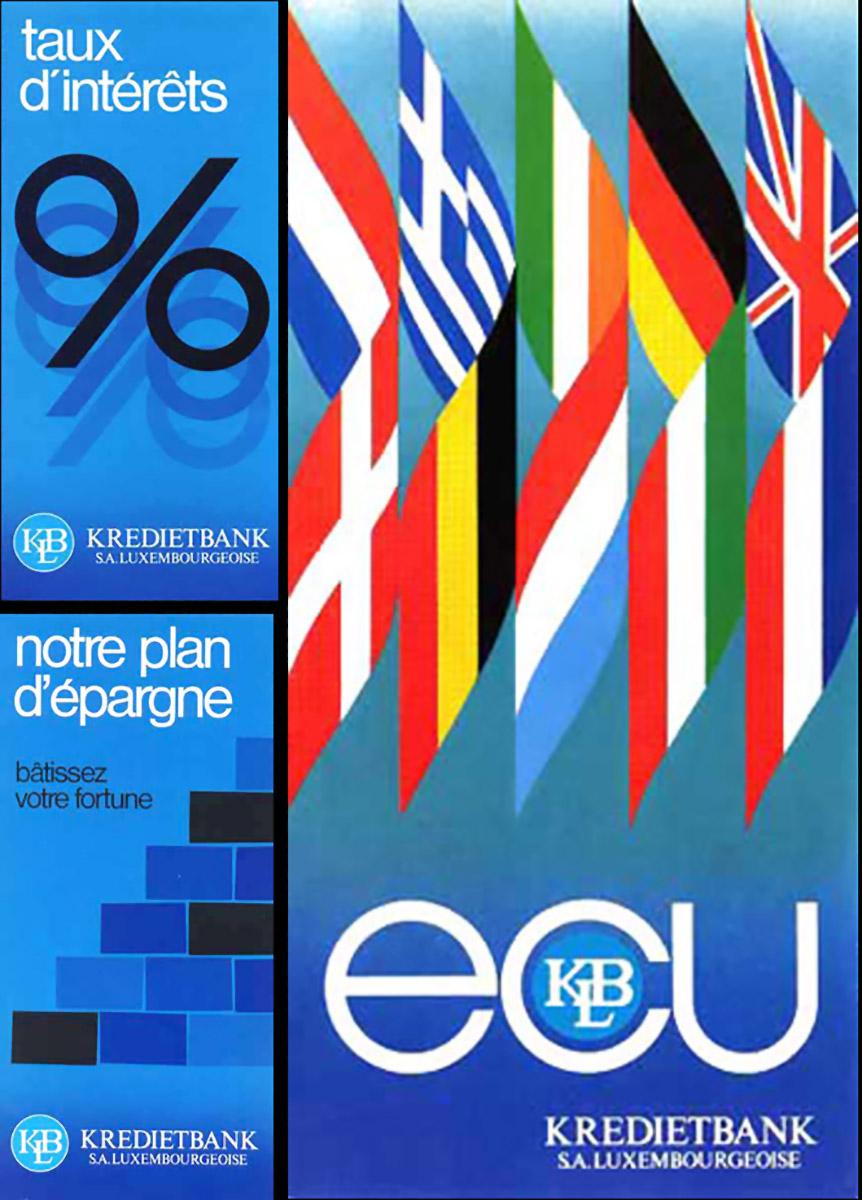 Dépliants Kredietbank Luxembourg Lex & Pit Weyer