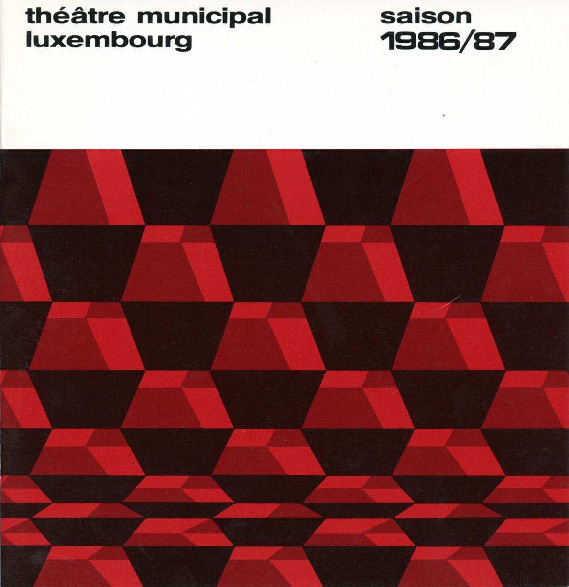 Programme Théâtre Municipal de la Ville de Luxembourg Saison 1986-87