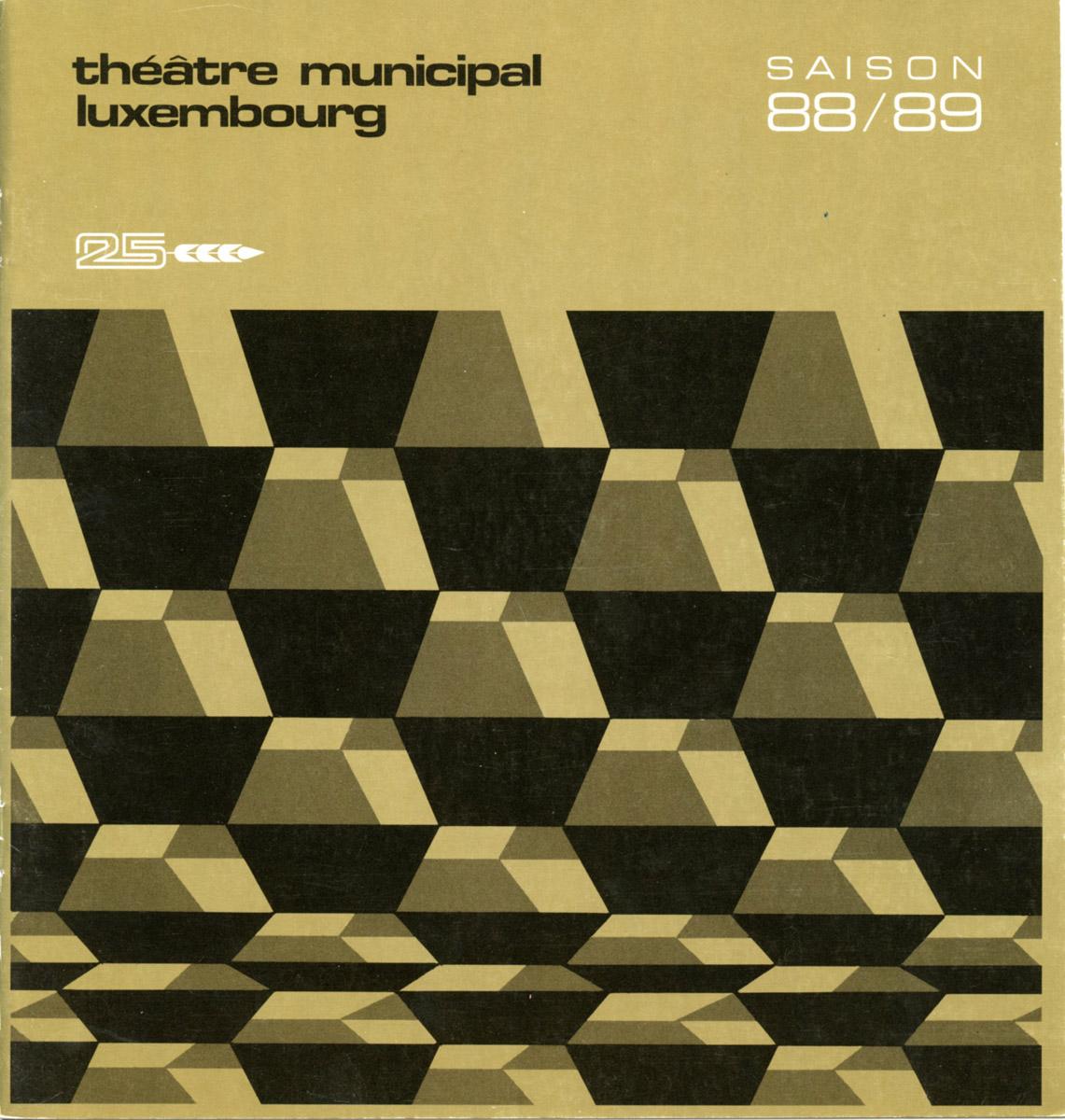 Programme Théâtre Municipal de la Ville de Luxembourg programmation Saison 1988-89
