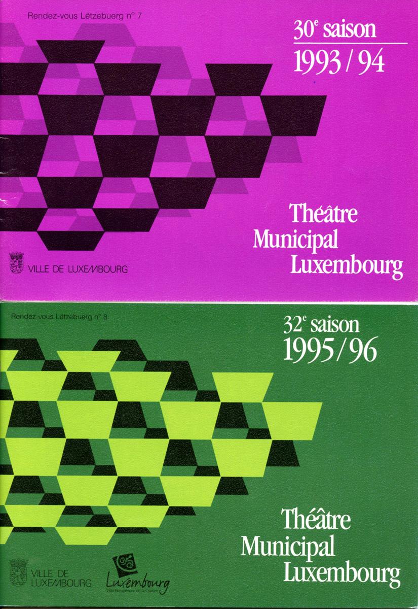 Programme Théâtre Municipal de la Ville de Luxembourg programmations Saison 1993-96