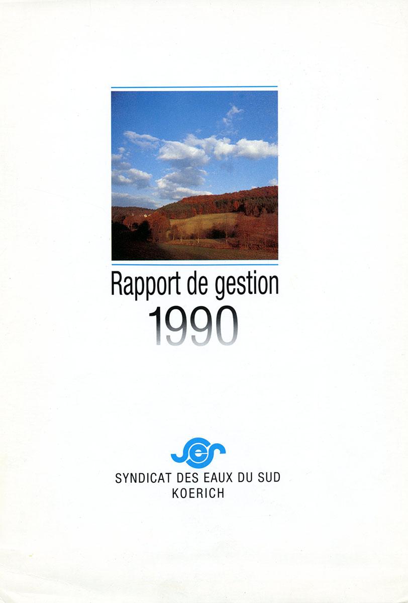 Rapport annuel SES Syndicat des eaux du Sud 1990 Lex & Pit Weyer