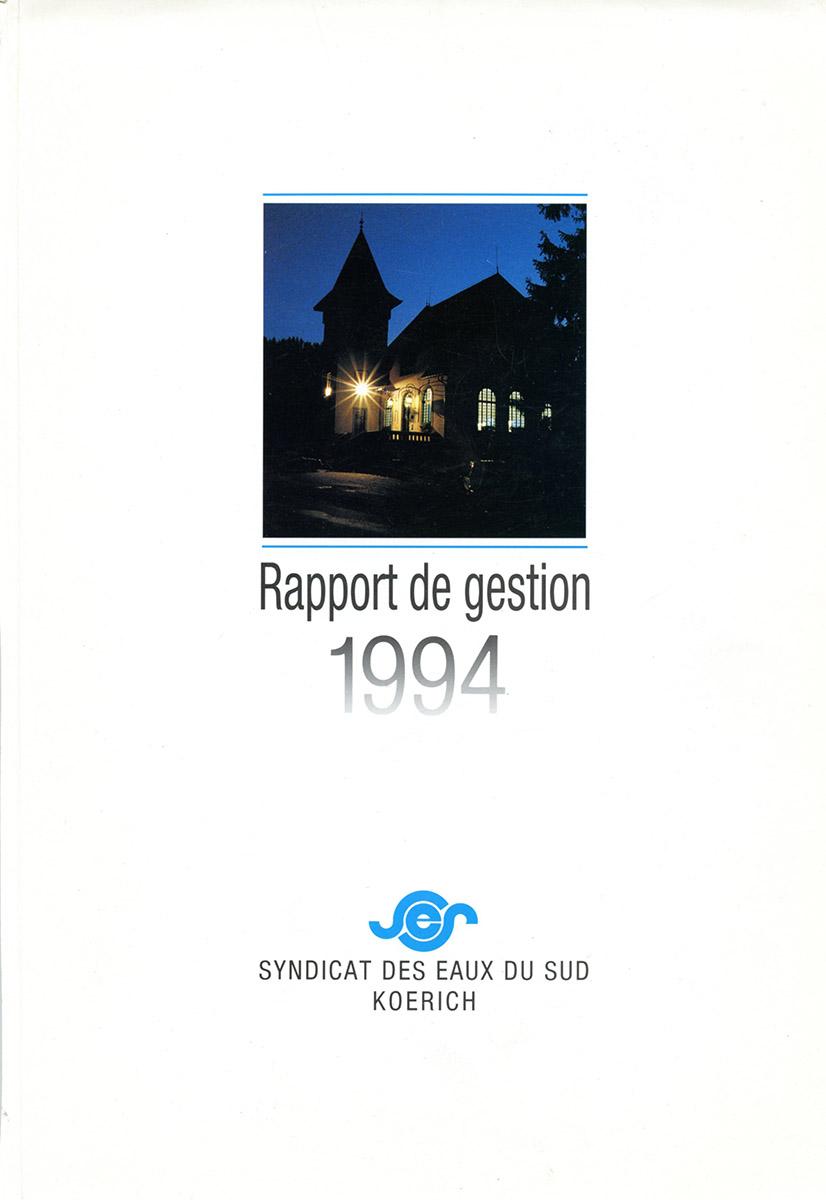 Rapport annuel SES Syndicat des eaux du Sud 1994 Lex & Pit Weyer