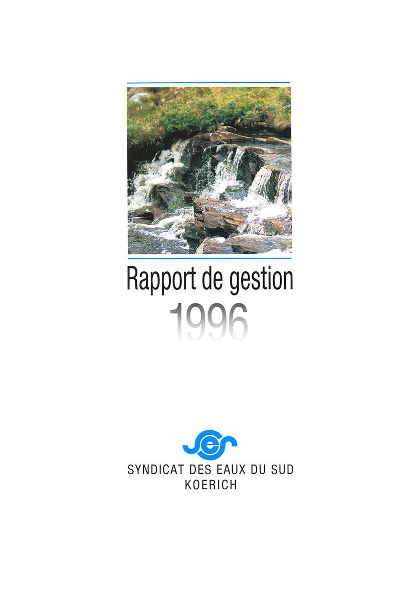 Rapport annuel SES Syndicat des eaux du Sud 1996 Lex & Pit Weyer