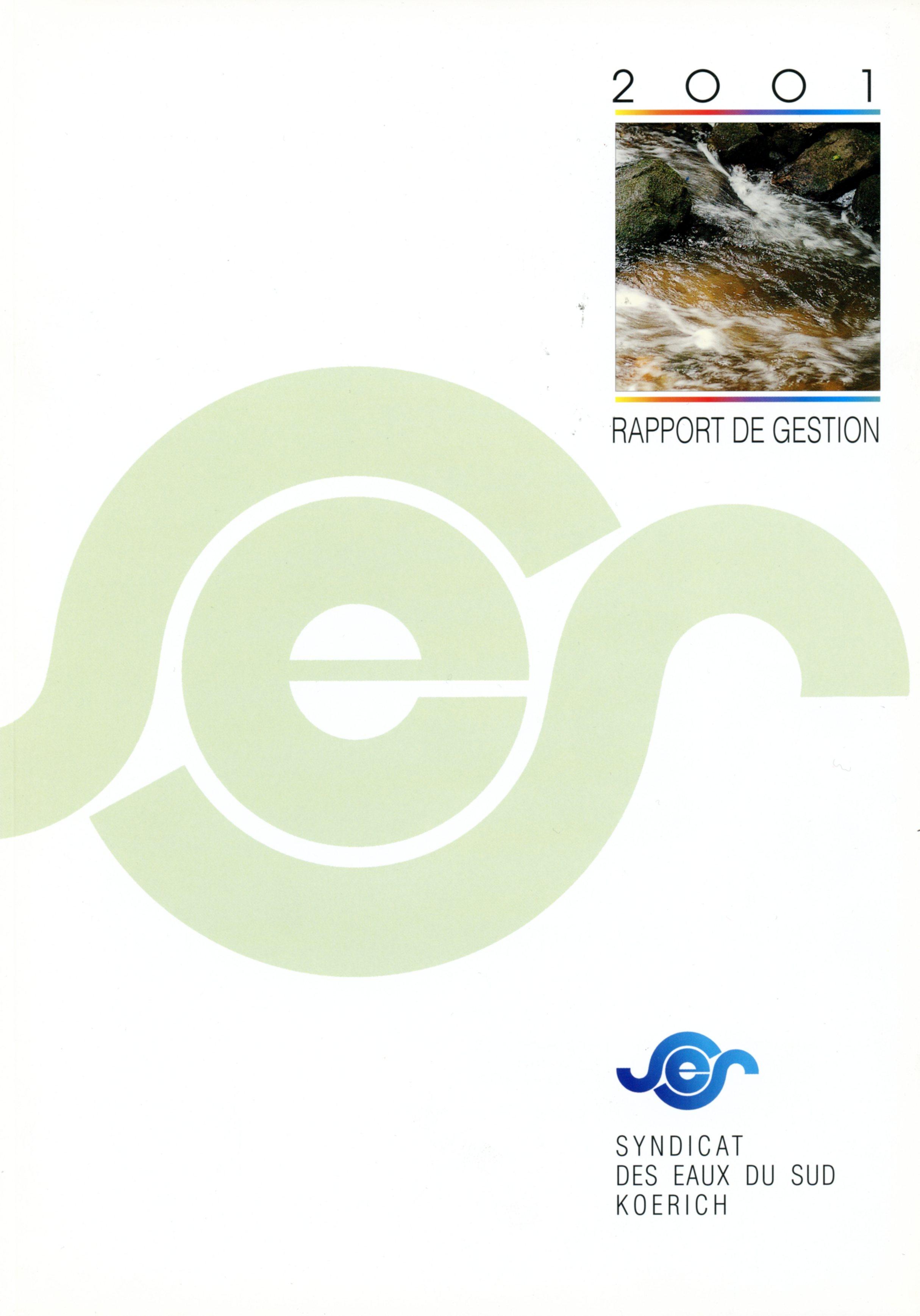 Rapport annuel SES Syndicat des Eaux du Sud Koerich Lex & Pit Weyer 2001