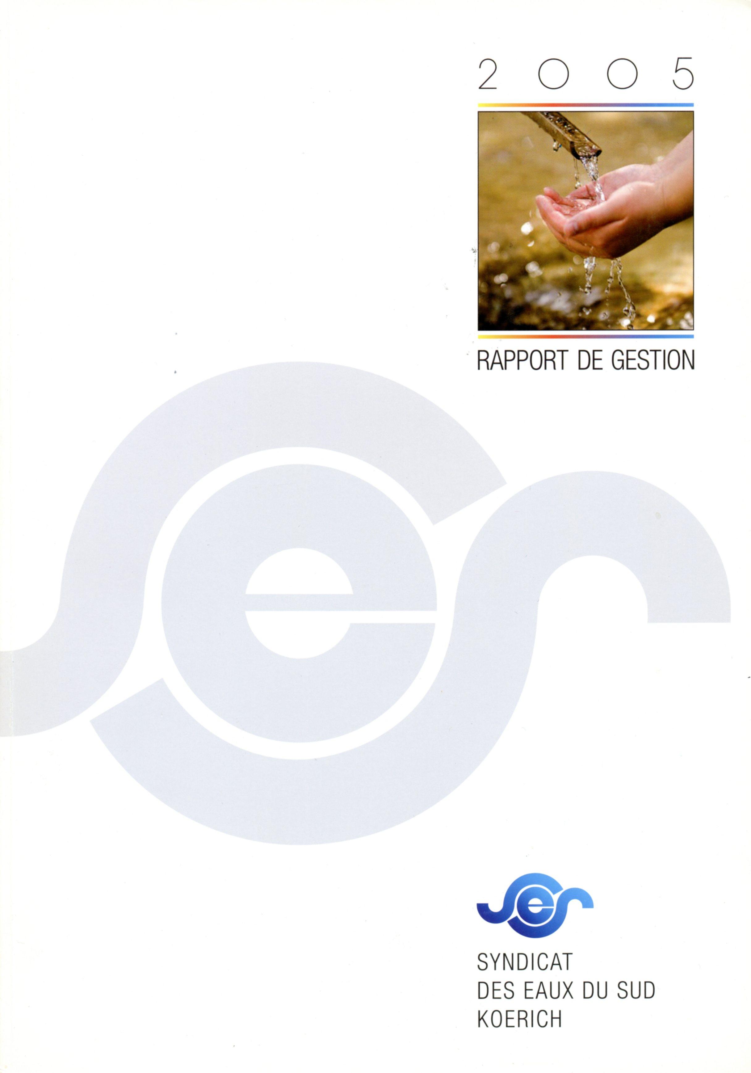 Rapport annuel SES Syndicat des Eaux du Sud Koerich Lex & Pit Weyer 2005