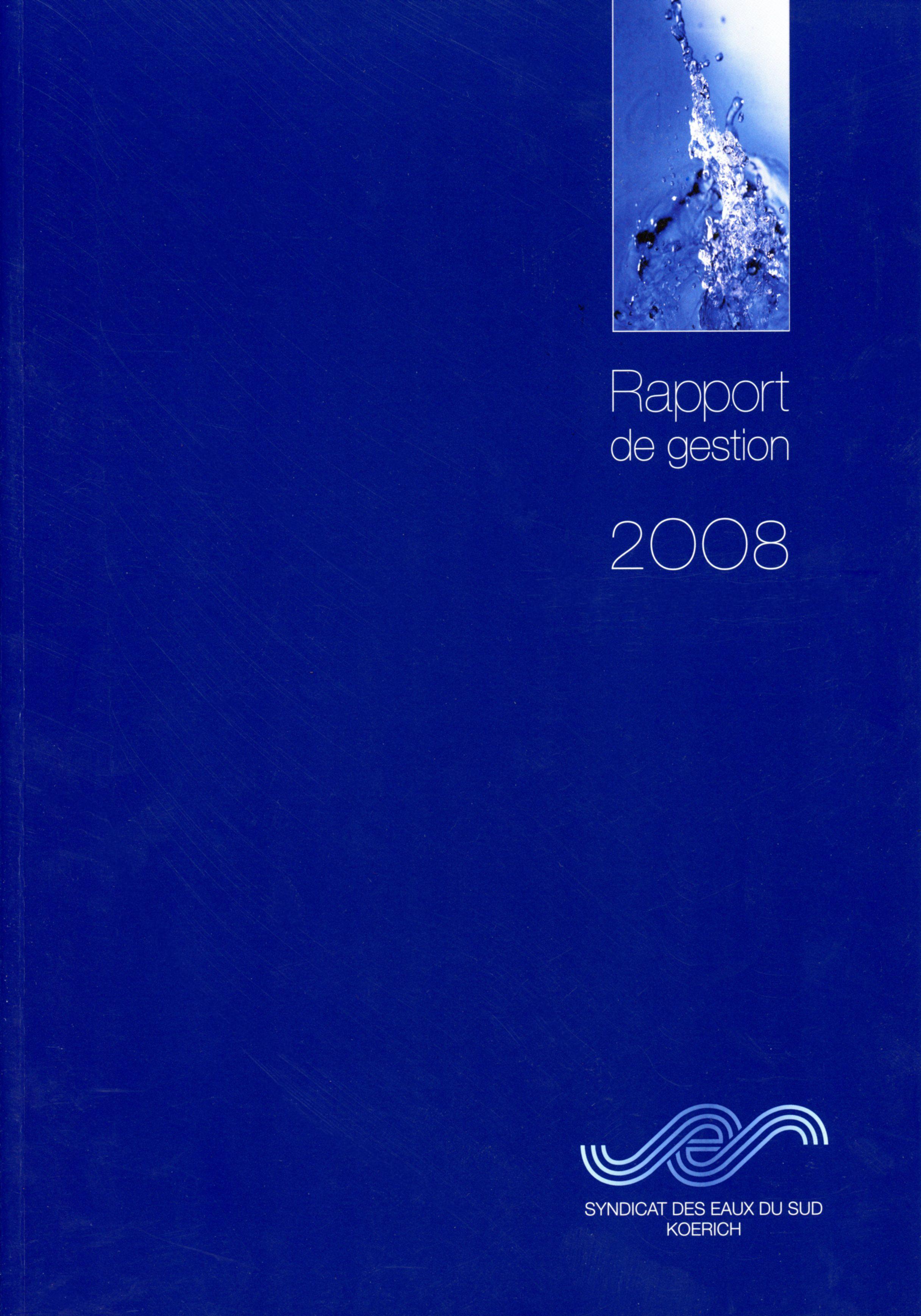 Rapport annuel SES Syndicat des Eaux du Sud Koerich Lex & Pit Weyer 2008