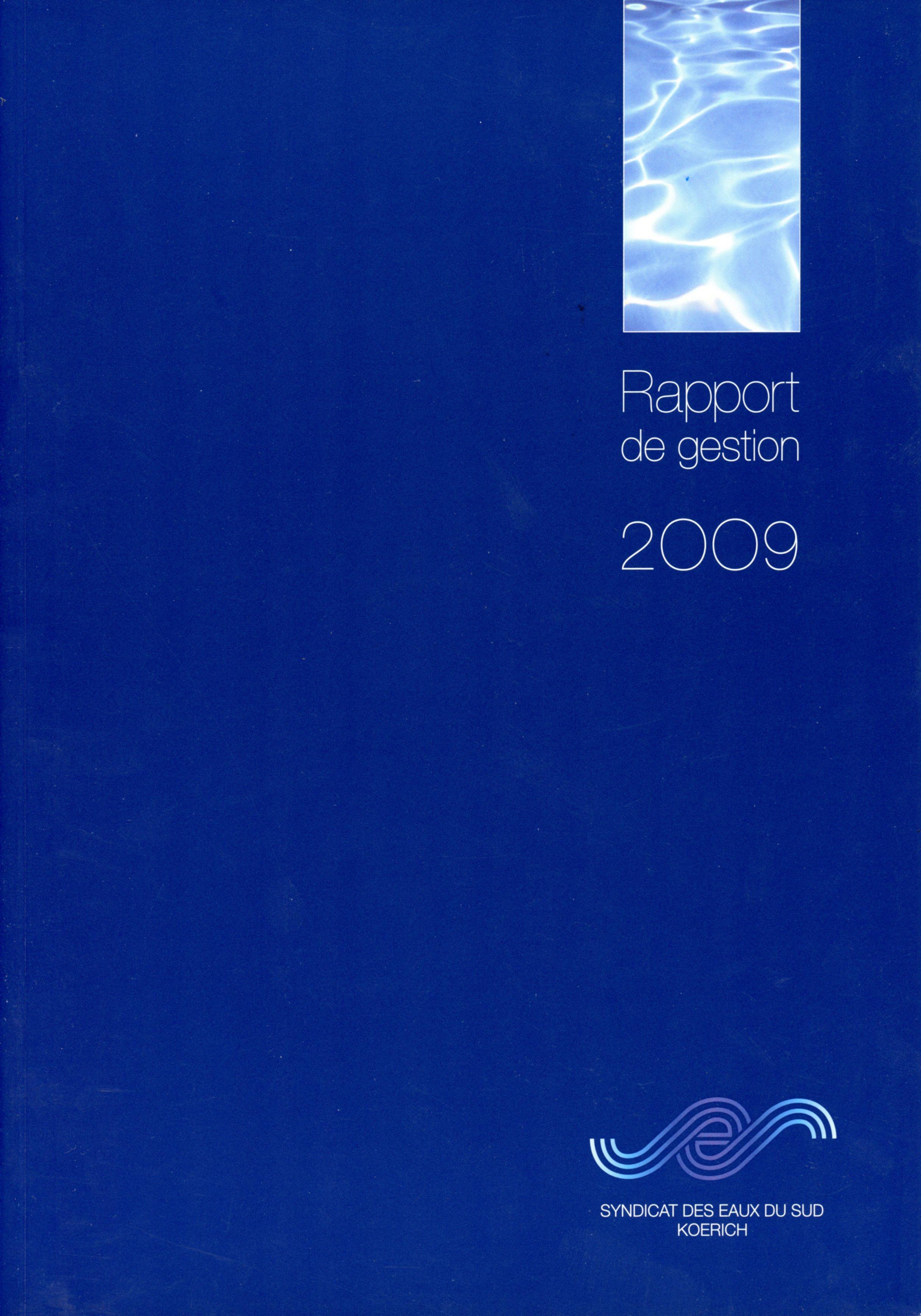 Rapport annuel SES Syndicat des Eaux du Sud Koerich Lex & Pit Weyer 2009