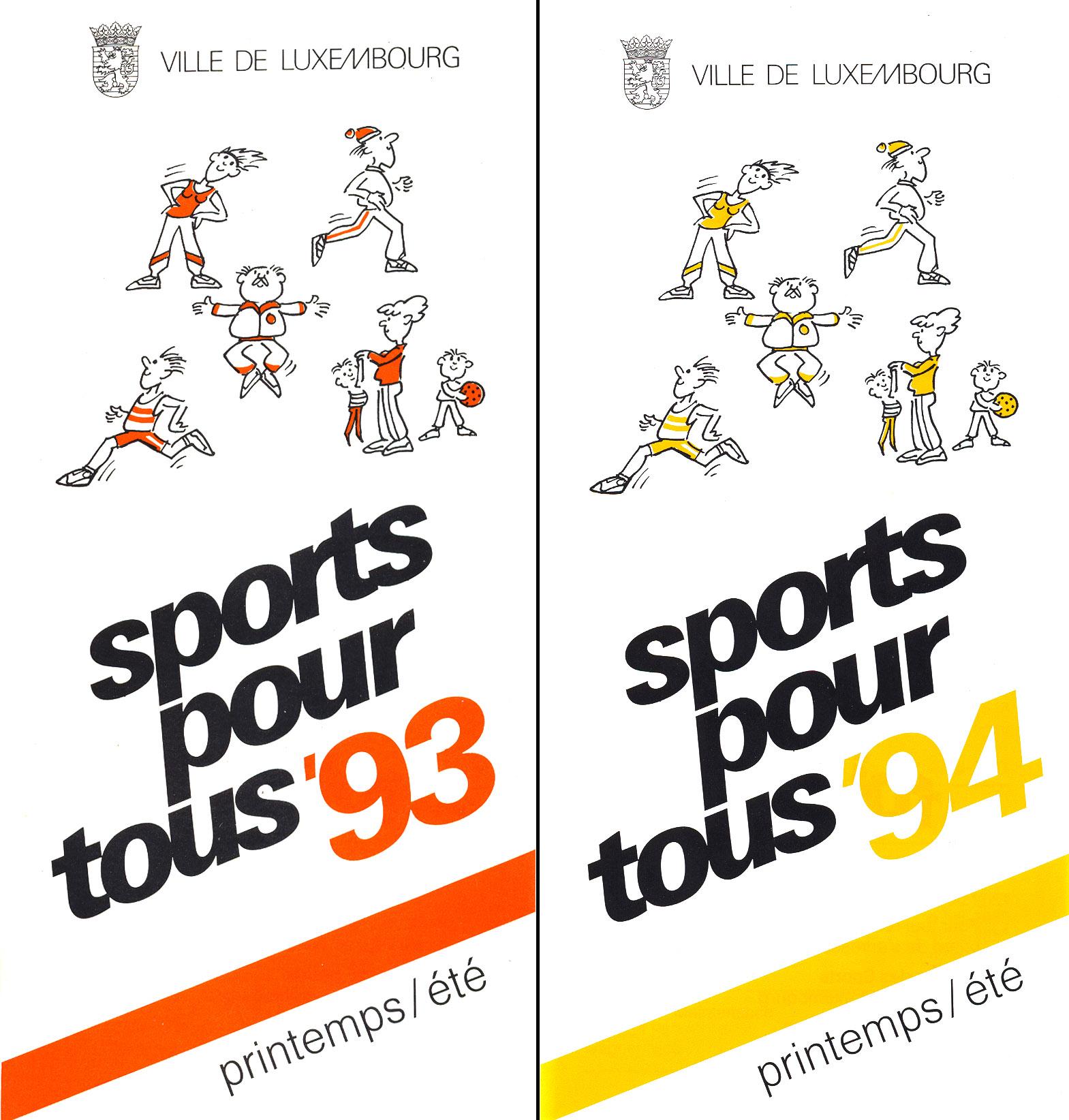 Dépliant Sport pour tous 1993-94