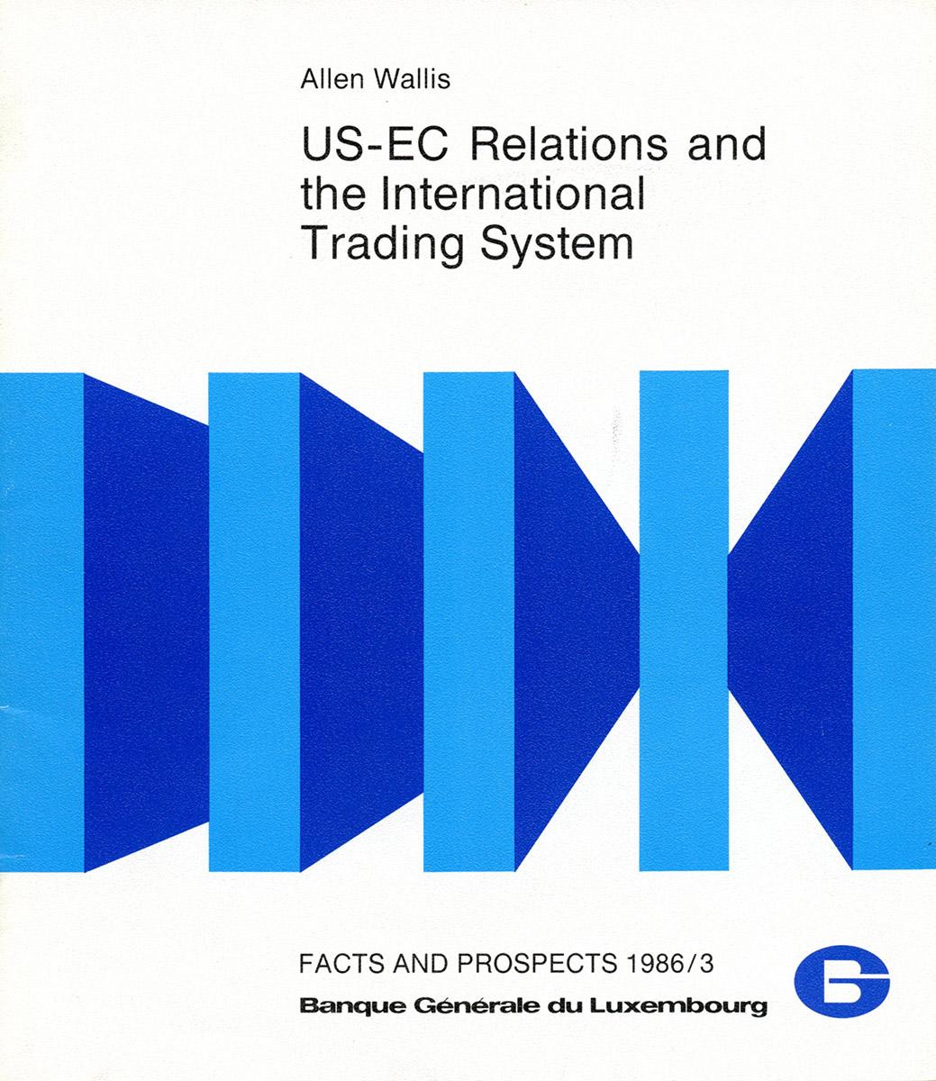 Dépliant US-EC Relations 1986 BGL Luxembourg Illustrations Pit Weyer