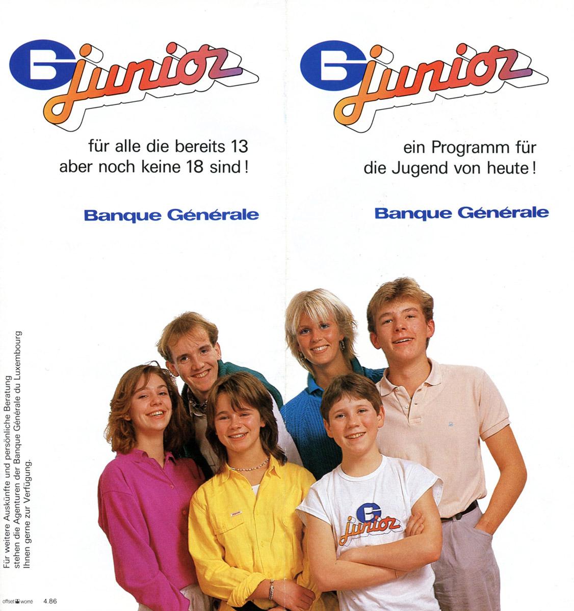 Dépliant BGL-junior 1991 Lex & Pit Weyer