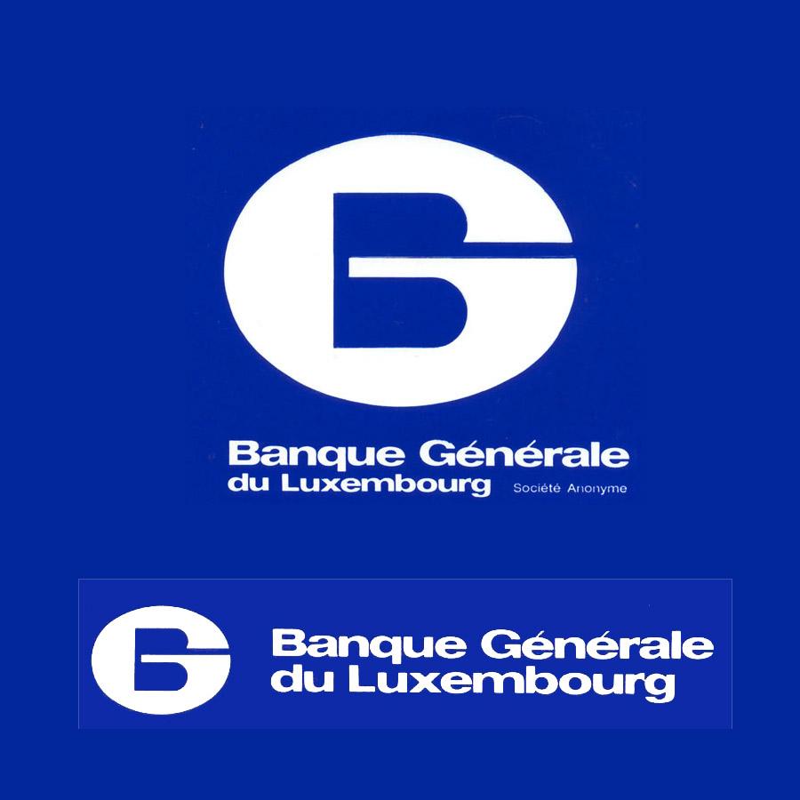 LOGO pour la Banque Générale de Luxembourg 1974 Lex & Pit Weyer