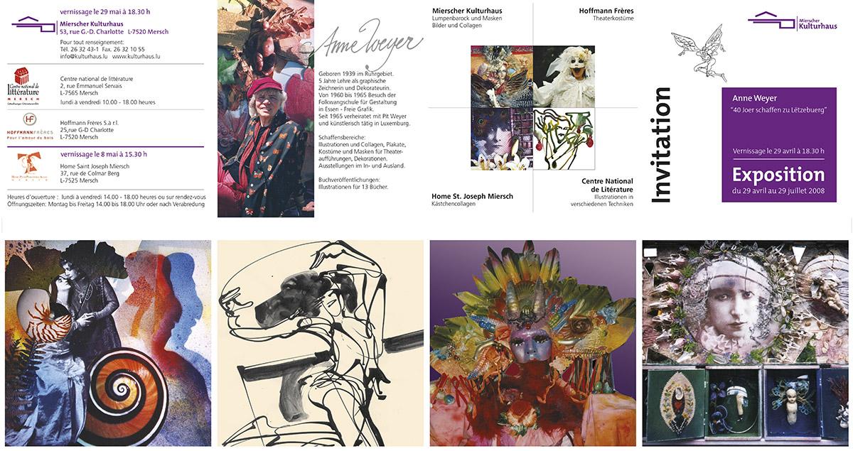 2008 Invitation Exposition Ausstellung Anne Weyer Mersch