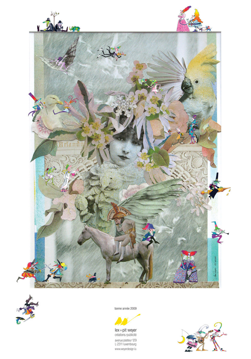 Affiche Bonne Année 2009 Lex & Pit Weyer graphistes