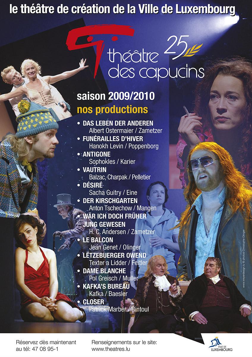 2009 Affiche saison2009-10 théâtre des capucins
