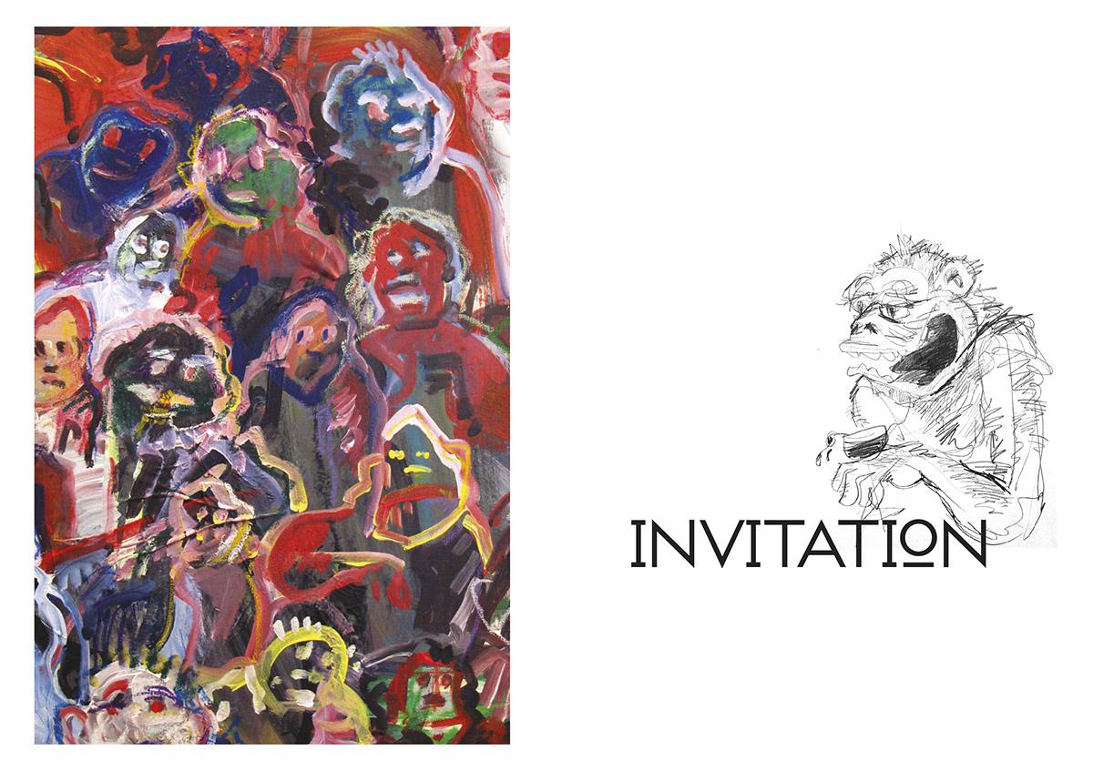 Carton invitation Exposition Lex Weyer 2009