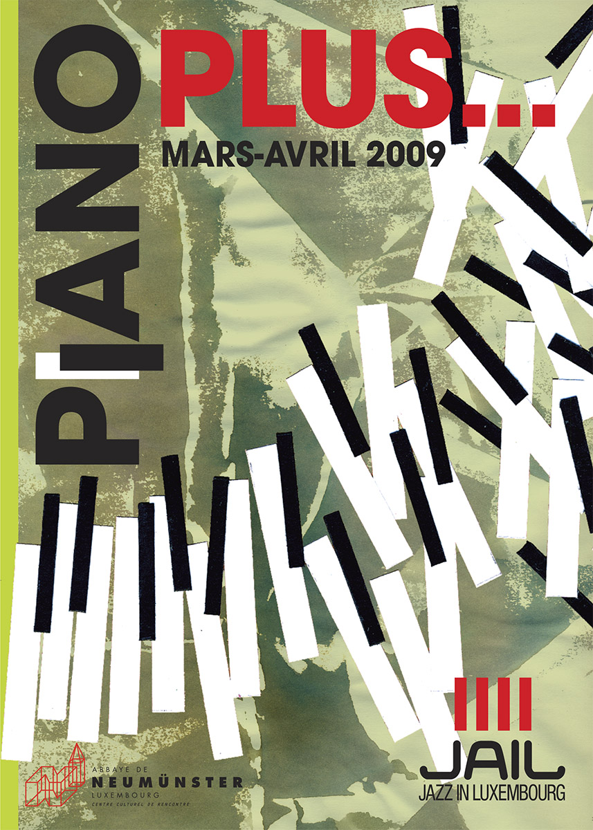Affiche PIANO PLUS Festival Jail Jazz 2009 Lex Weyer
