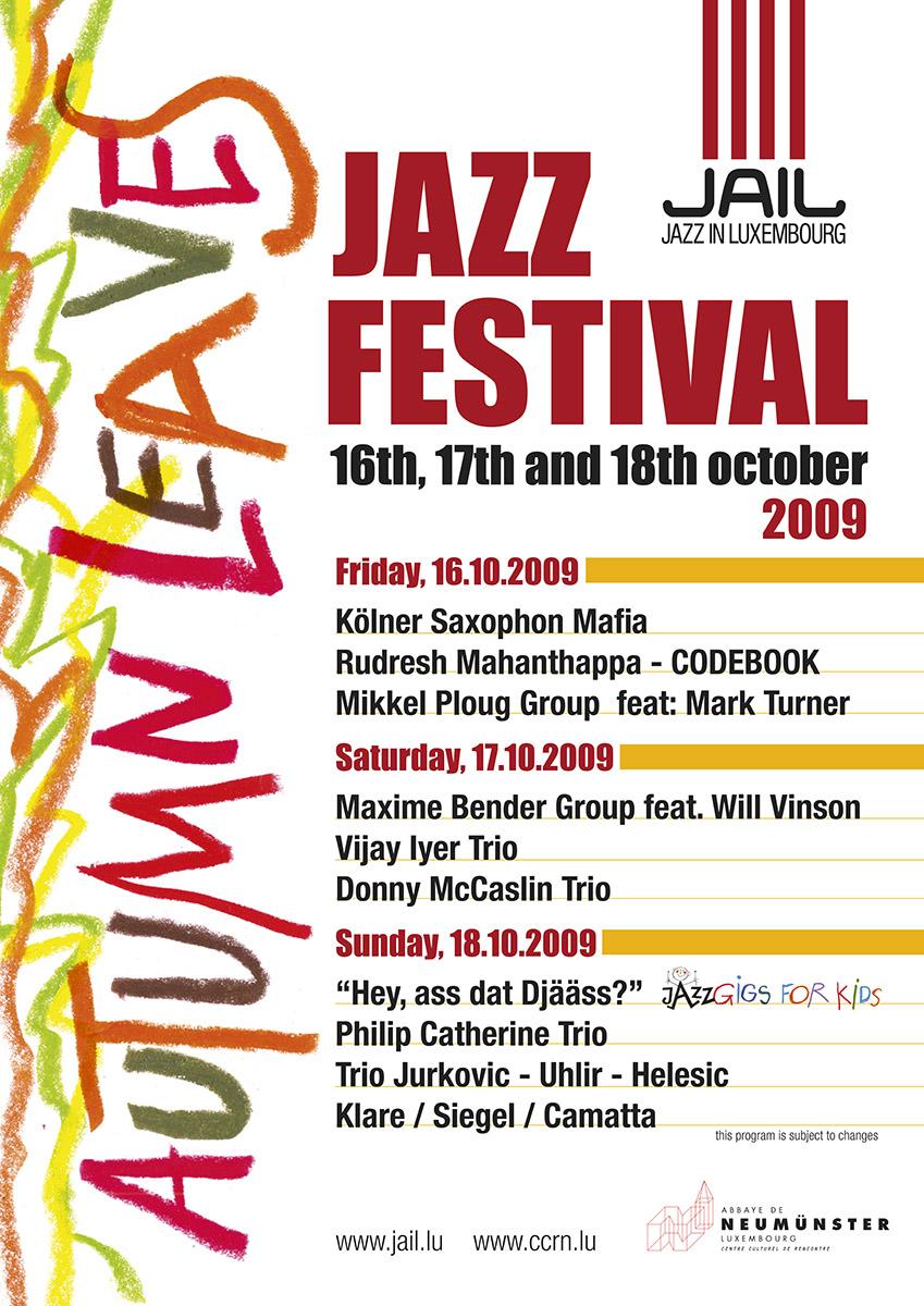 Affiche Poster Autumn Leaves Jazz Festival 2009 Jail Neumünster Lex Weyer