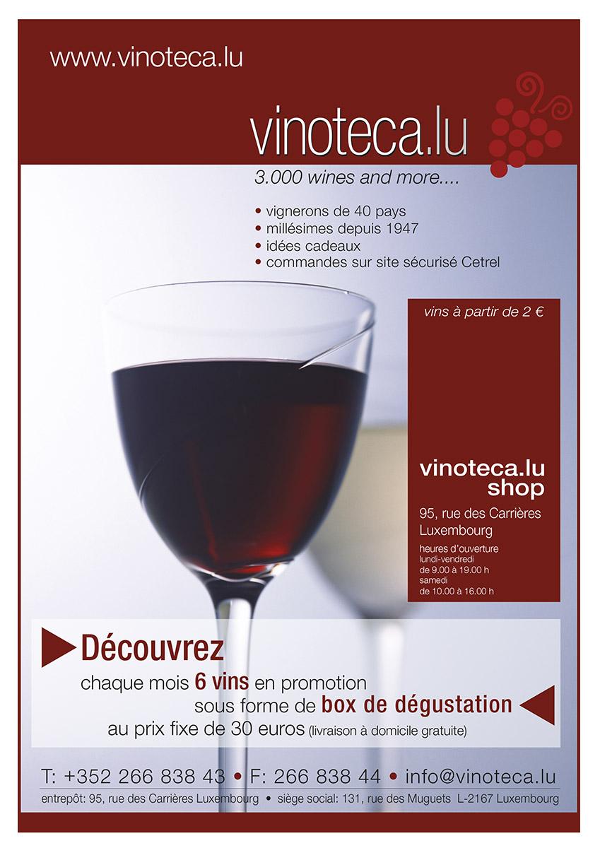 Annonce Vinoteca Luxemburg 2009 Lex & Pit Weyer