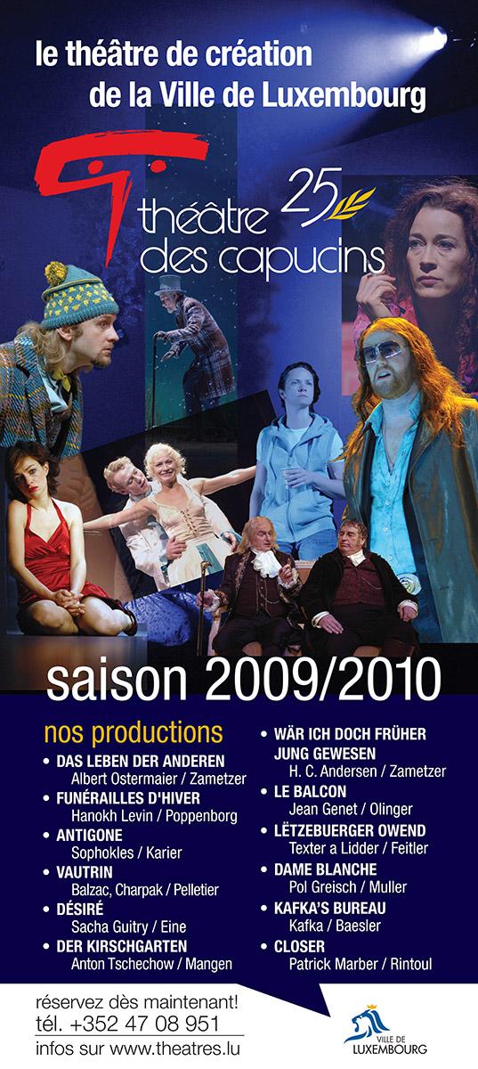 Calicot Saison théâtrale 2009-2010 Théâtre des capucins Lex & Pit Weyer
