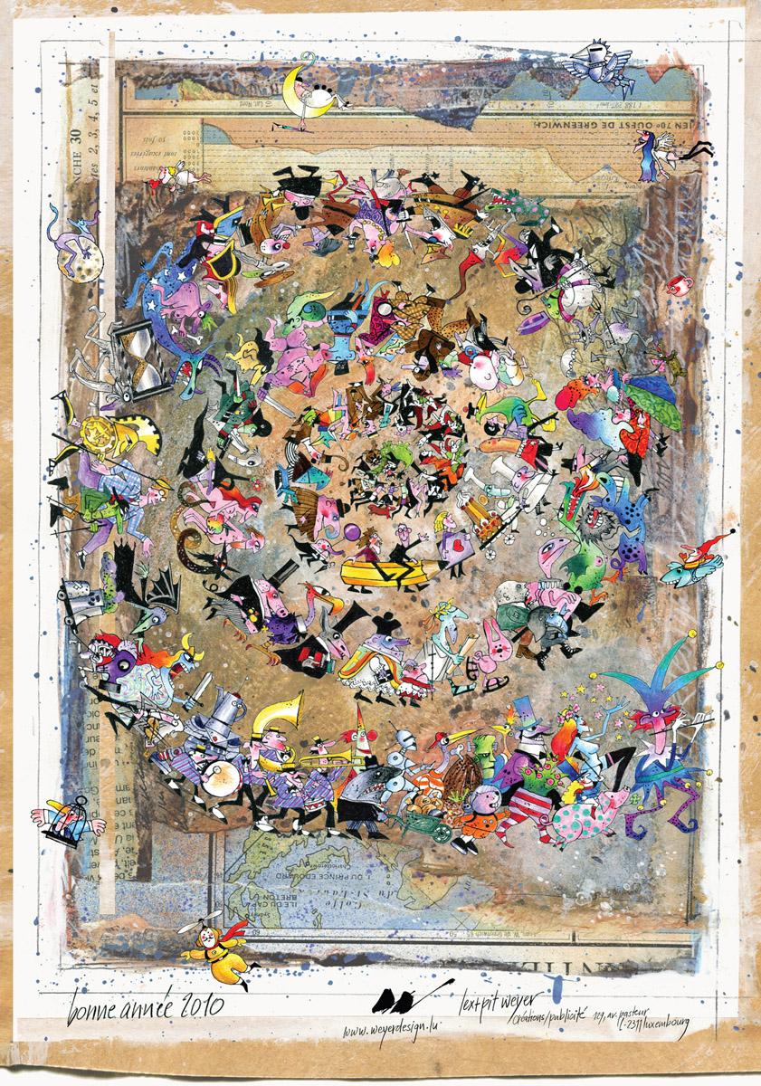 Affiche 2010 Bonne Année Lex & Pit Weyer