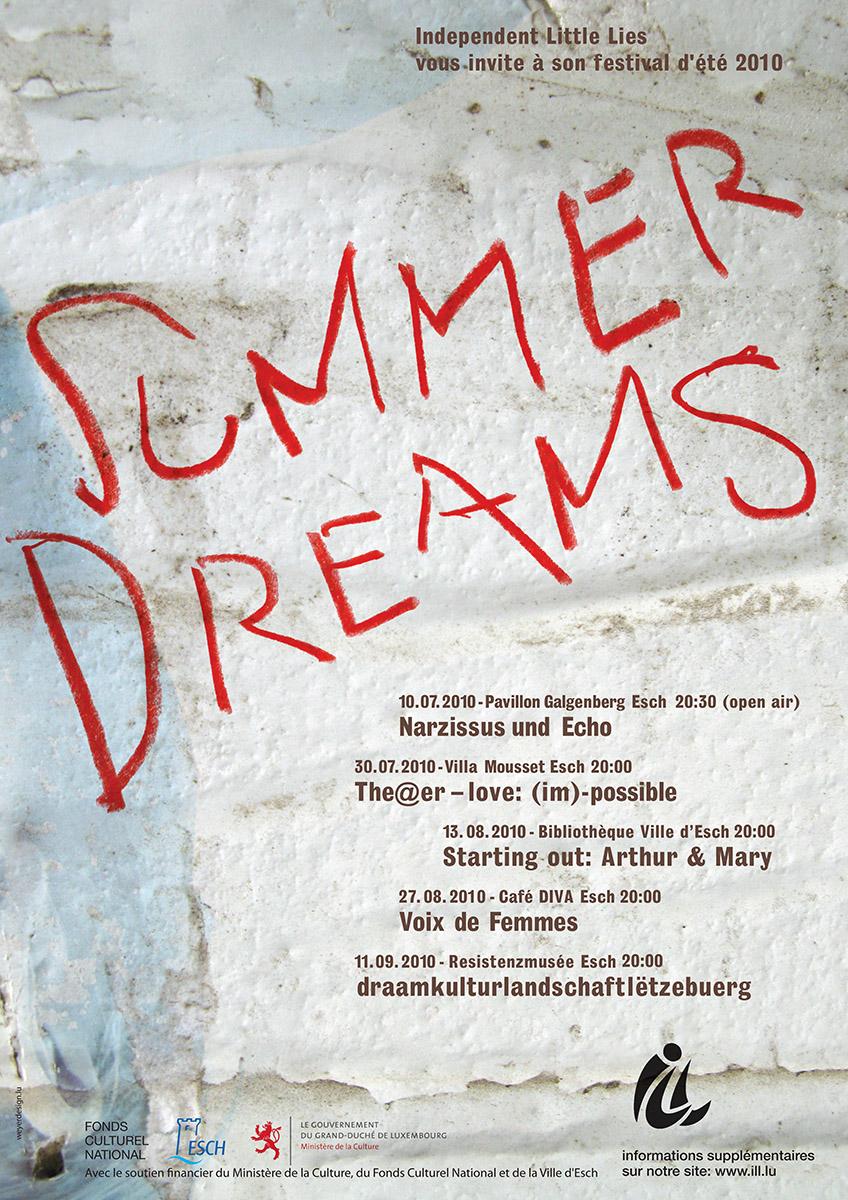 Affiche Summerdreams 2010 ILL Independant Little Lies Lex Weyer