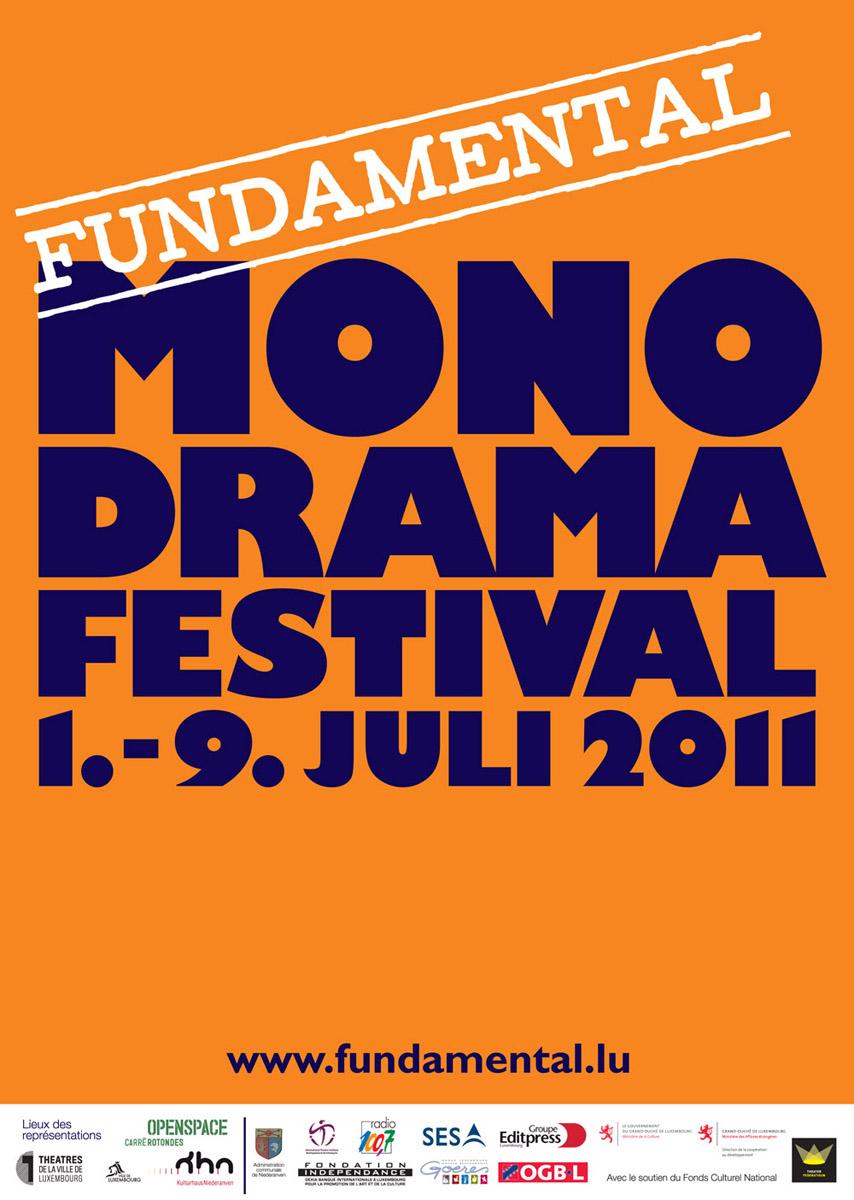 2011 Affisch Monodrama 2011